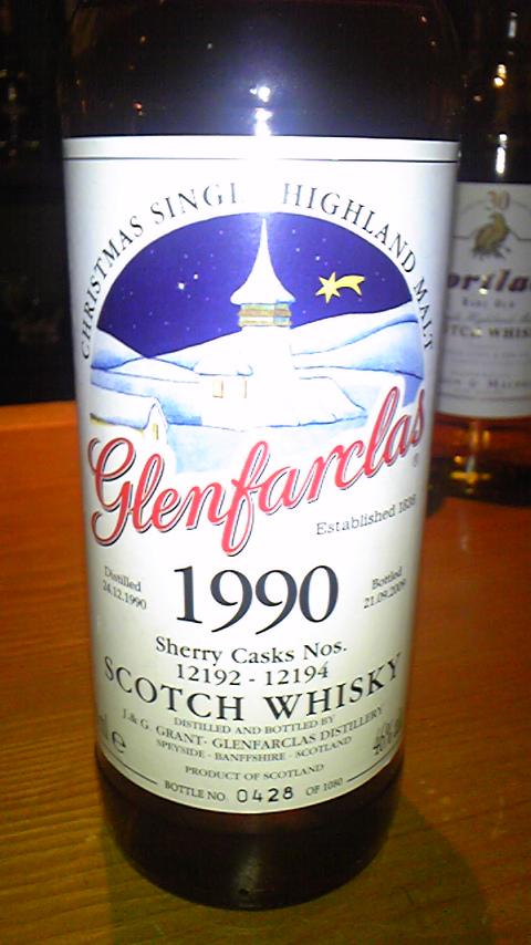 グレンファークラス Glenfarclas 1990/2009 (46%, OB, Christmas Single Highland Malt, Sherry cask, C#12192-12194, 0428/1080 Bts)