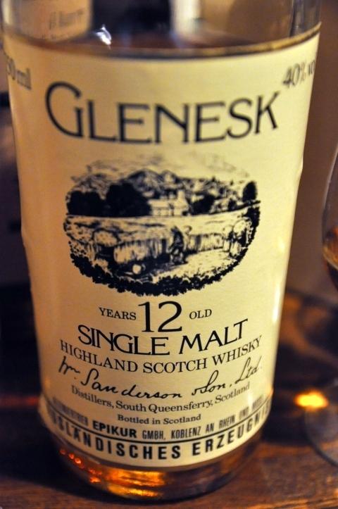 グレネスク Glenesk  12yo (40%, OB, Wm Sanderson, 1980's)
