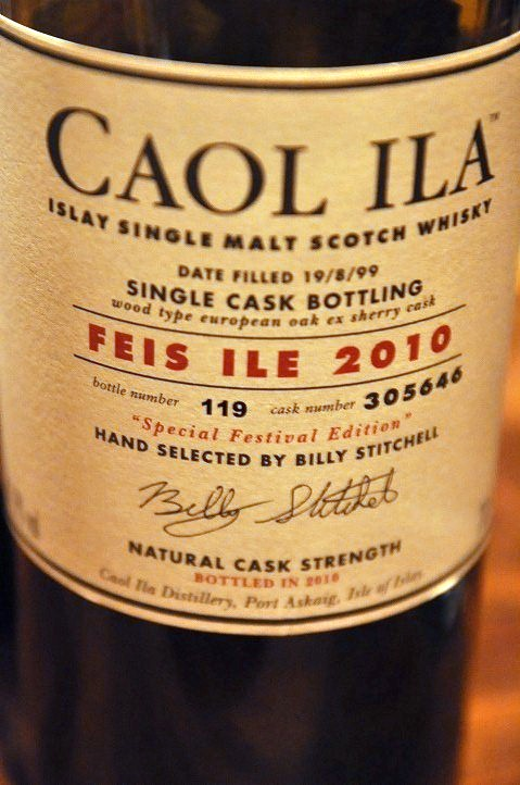 カリラ Caol  ila 1999/2010 'FEIS ILE 2010' (61.9%, OB, 2010, european oak ex sherry cask, C#305646, btl no.119, 19/8/99-2010) Hand Selected by Billy  Stitchell, bottled especially to celebrate FEIS ILE 2010