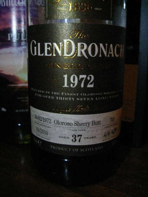 グレンドロナック Glendronach 37yo 1972/2010 (54.4%, OB, Oloroso Sherry,  +/-2010)