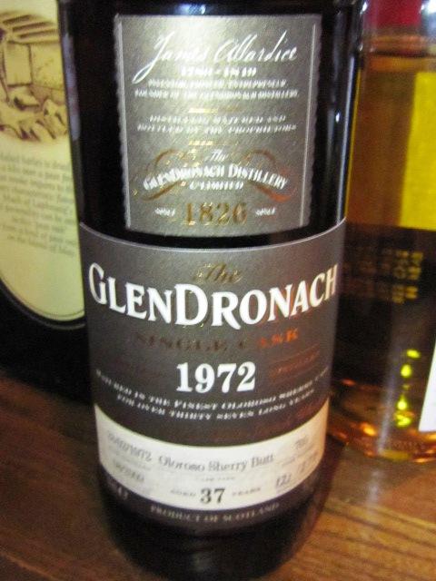 グレンドロナック Glendronach 37yo 1972/2009 (53.3%, OB for LMdW, Cask#705, 275 Bts.) 1972.2.28-2009.08 121/275 bts  Oloroso Sherry Butt