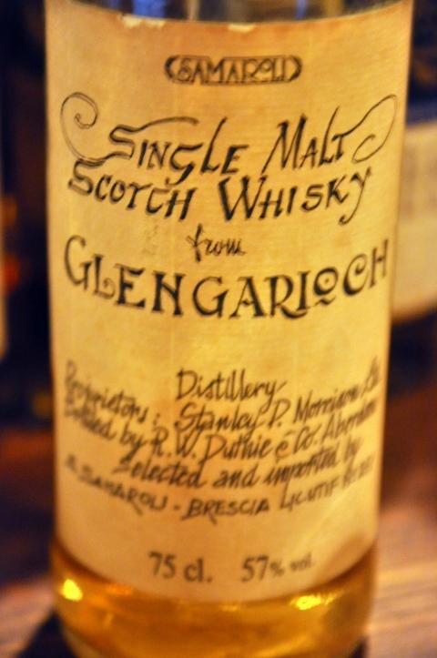 グレンギリー Glen Garioch 13yo 1975 (57%, Samaroli, Handwritten label, +/-1988, 75cl)