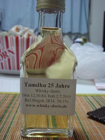 タムデュー Tamdhu 1984-2010 Whisky Doris Cask 2834 50.1%