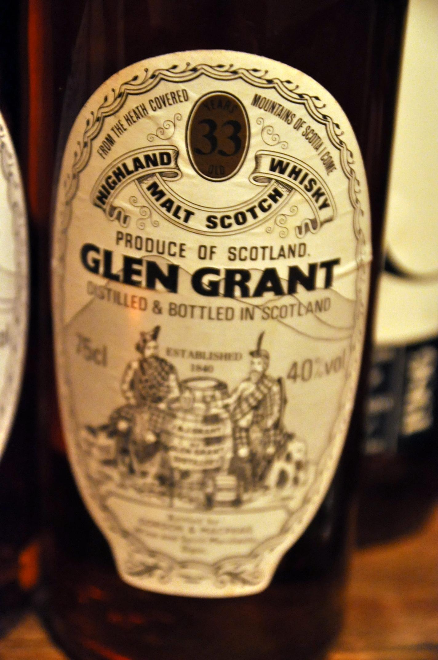 グレングラント Glen Grant 33yo (40%, G&M Licensed bottling, 75cl)