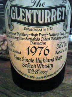 グレンタレット Glenturret 1976/1986 (58.7%, OB, frosted glass, 102.8° Proof)