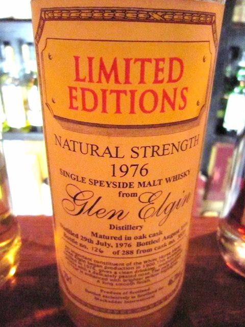 グレンエルギン Glen Elgin 1976/1996 (46.3%, Blackadder, C#3539, 126/288 Bts, Oak Cask)