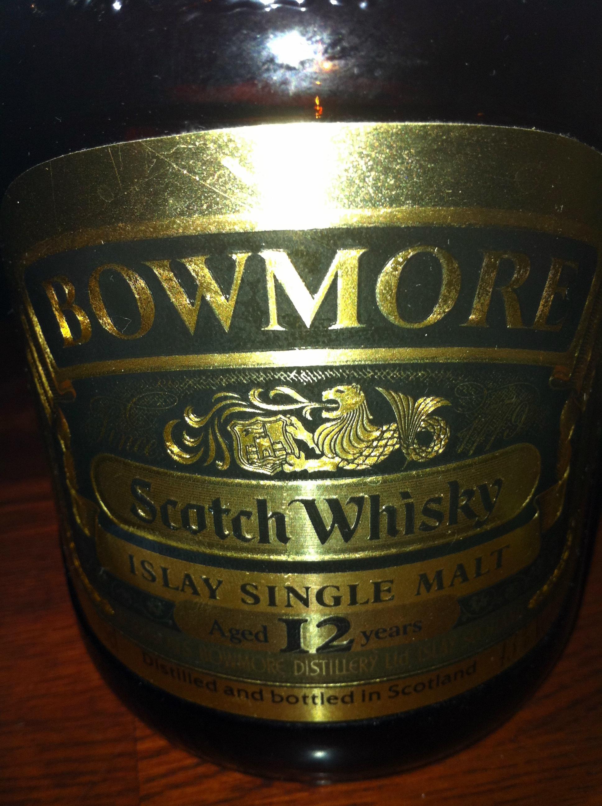 ボウモア Bowmore 12yo (43%, OB, Dumpy Golden Label, early 1980's) c1980 特級 菱和酒類