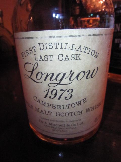 """ロングロウ Longrow 1973 (43.2%, OB, """"FIRST DISTILLATION LAST CASK"""")"""