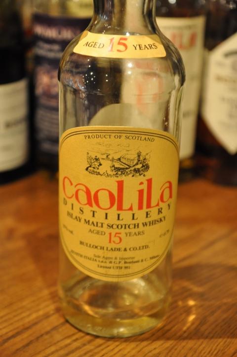 カリラ Caol Ila 15yo (57%, Bulloch Lade & Co. Ltd., 75cl, Orange label) c1985