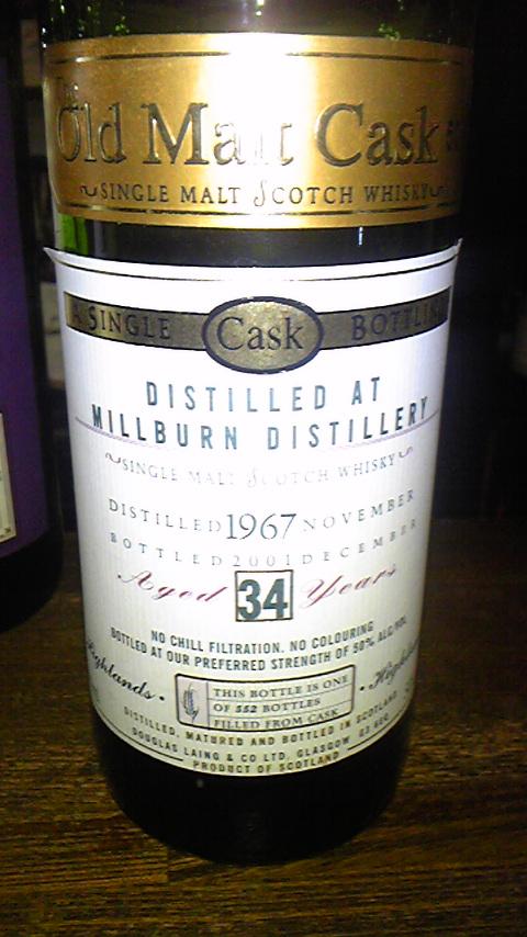 ミルバーン Millburn 34y 1967-2001 (50%, DL Old Malt Cask, 552 Bts.)