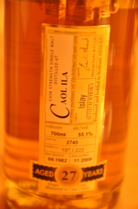 カリラ  Caol Ila 27yo 1982/2009 (55.1%, Duncan Taylor Rare Auld, C#2745)