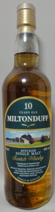 ミルトンダフ10年40%/ゴードン&マクファイル(GM)