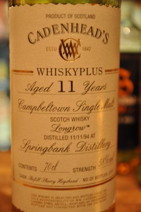 ロングロウ Longrow 11yo 1994 (58%, Cadenhead's for Whiskyplus Berlin, 288 Bts.) Refill Sherry Hogshead