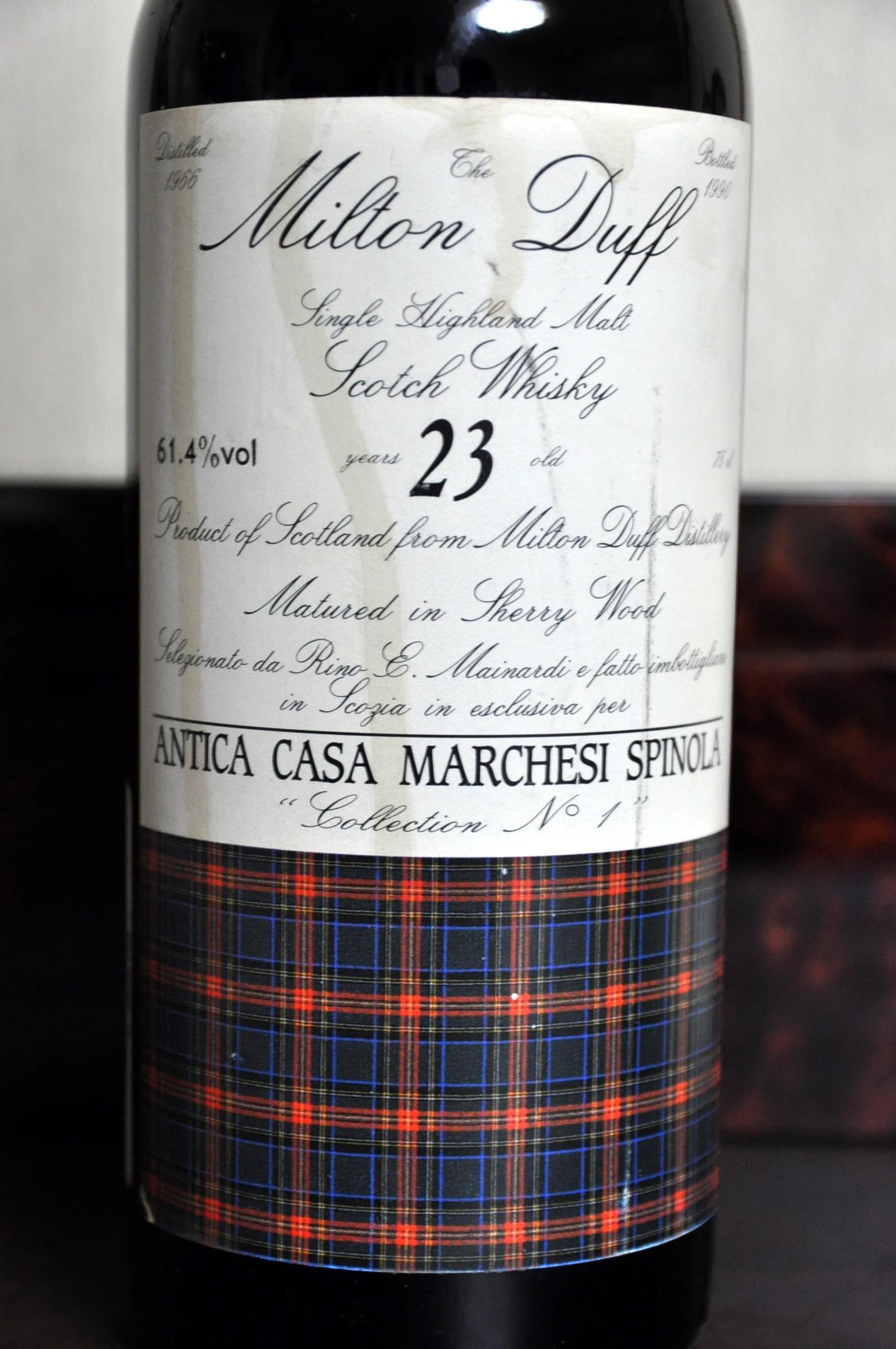 ミルトンダフ Miltonduff 23yo 1966/1990 (61.4%, Sestante, ANTICA CASA MARCHESI SPINOLA selection no.1, Sherry, 75cl) Btl no.339
