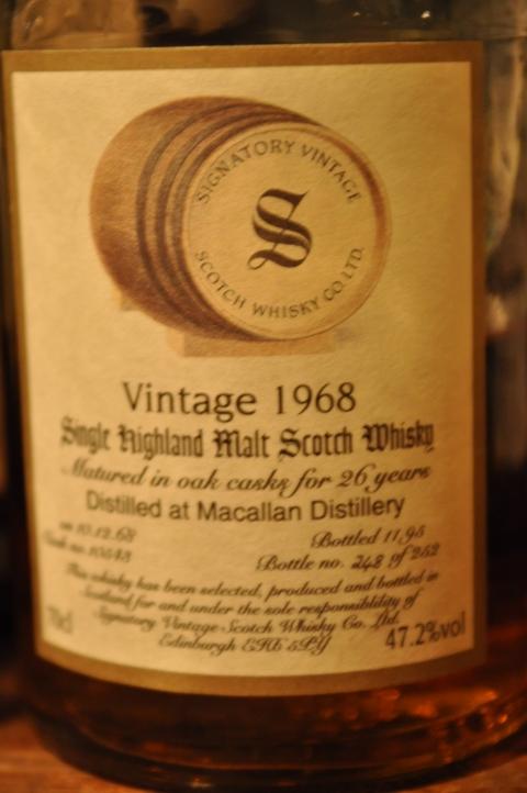 マッカラン Macallan 26yo 1968/1995 (47.2%, Signatory, C#10348, 248/252 Bts.)