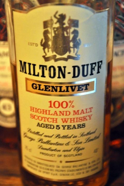 ミルトンダフ (グレンリベット表記) Miltonduff-Glenlivet 5yo (40%, OB, Ballantine's, 1979 rotation)