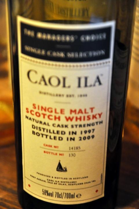 カリラ Caol Ila 1997/2009 'Manager's Choice' (58.0%, OB, cask #14185, 130/366 bottles)