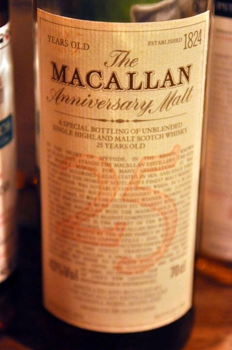 マッカラン Macallan 25yo 'Anniversary' (43%, OB, +/-2000)