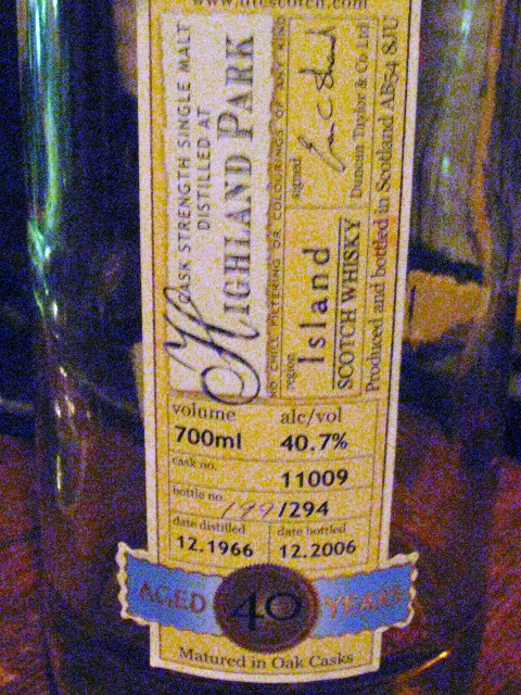 ハイランドパーク Highland Park 40y 1966/2006 (40.7%, Duncan Taylor Rare Auld, C#11009, 294 Bts.)