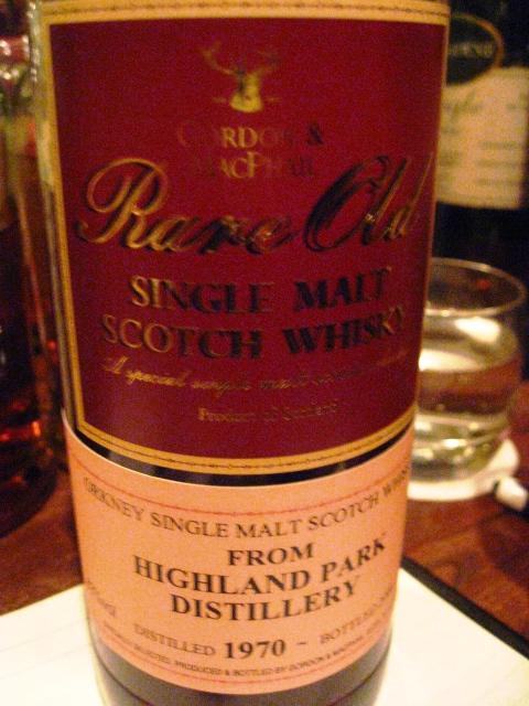 ハイランドパーク Highland Park 1970/2008 (43%, G&M Rare Old, 1st fill Sherry Butt)