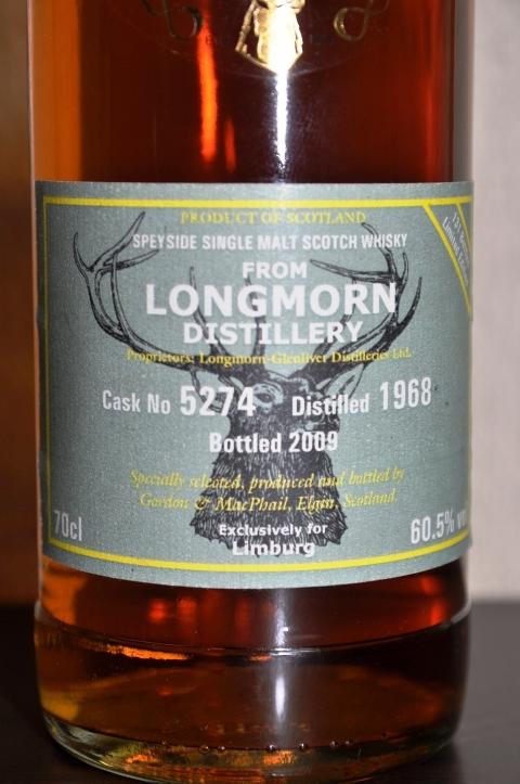 ロングモーン Longmorn(-Glenlivet) 1968/2009 (60.5%, G&M Reserve Exclusive for Limburg C#5274)