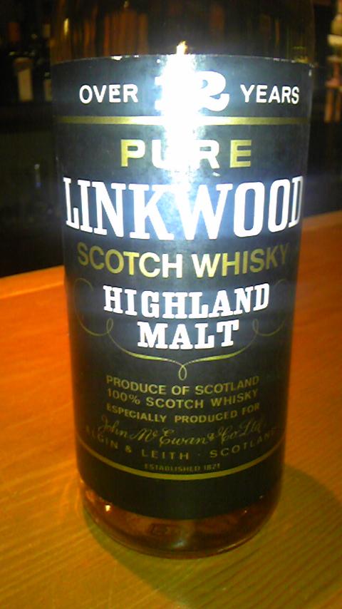 リンクウッド Linkwood 12yo (40%, OB, John McEwan & Co, Black Label)