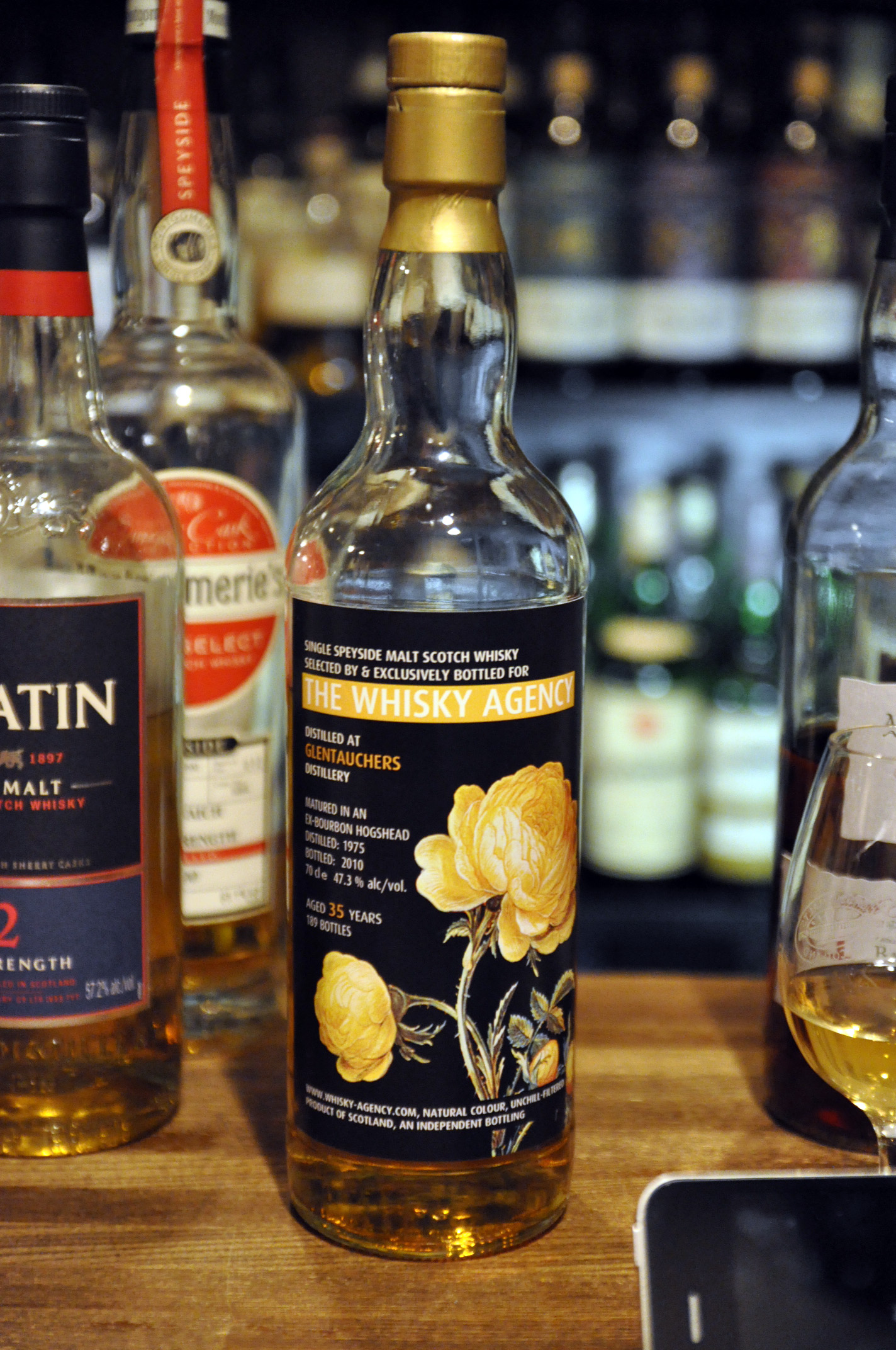 """グレントファース(グレンタウチャーズ) Glentauchers 35yo 1975/2010 (47.3%, The Whisky Agency, """"Still Lifes I """", 189bts, Ex-Bourbon Hogshead)"""