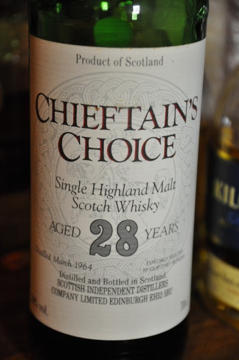 タリバーディン Tullibardine 38yo 1964 (50%, Chieftain's Choise<Scotish Independent Distillers Co.>, Single Highland Scotch Whisky, 70CL)