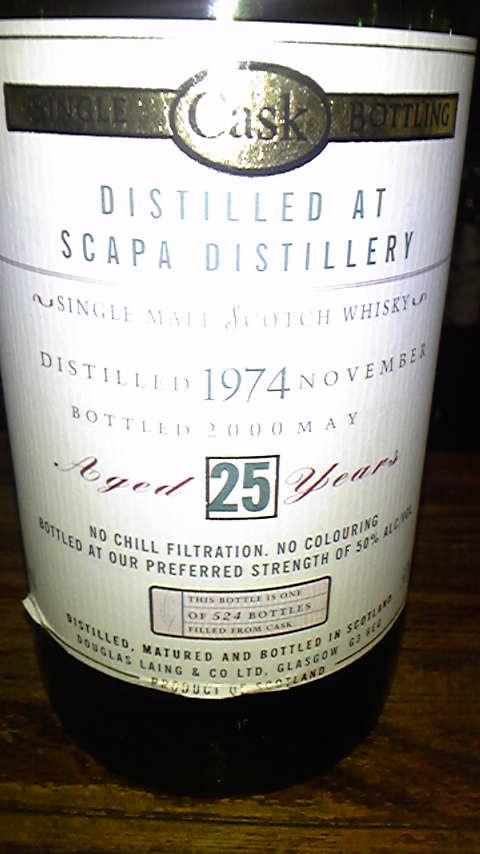 スキャパ Scapa 25yo 1974/2000 (50%, Douglas Laing OMC, 524 Bts.)