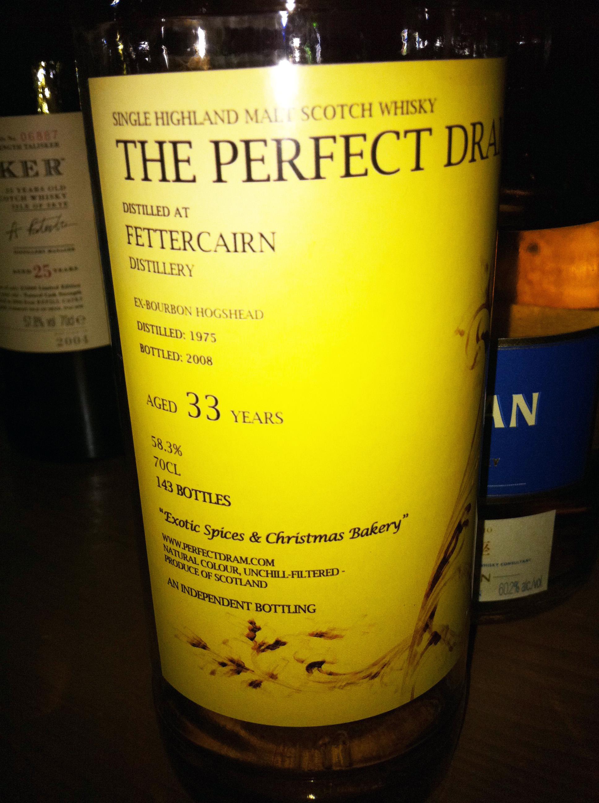 フェッターケン Fettercairn 33yo 1975/2008 (58.3%, The Perfect Dram, 143 Bts.)