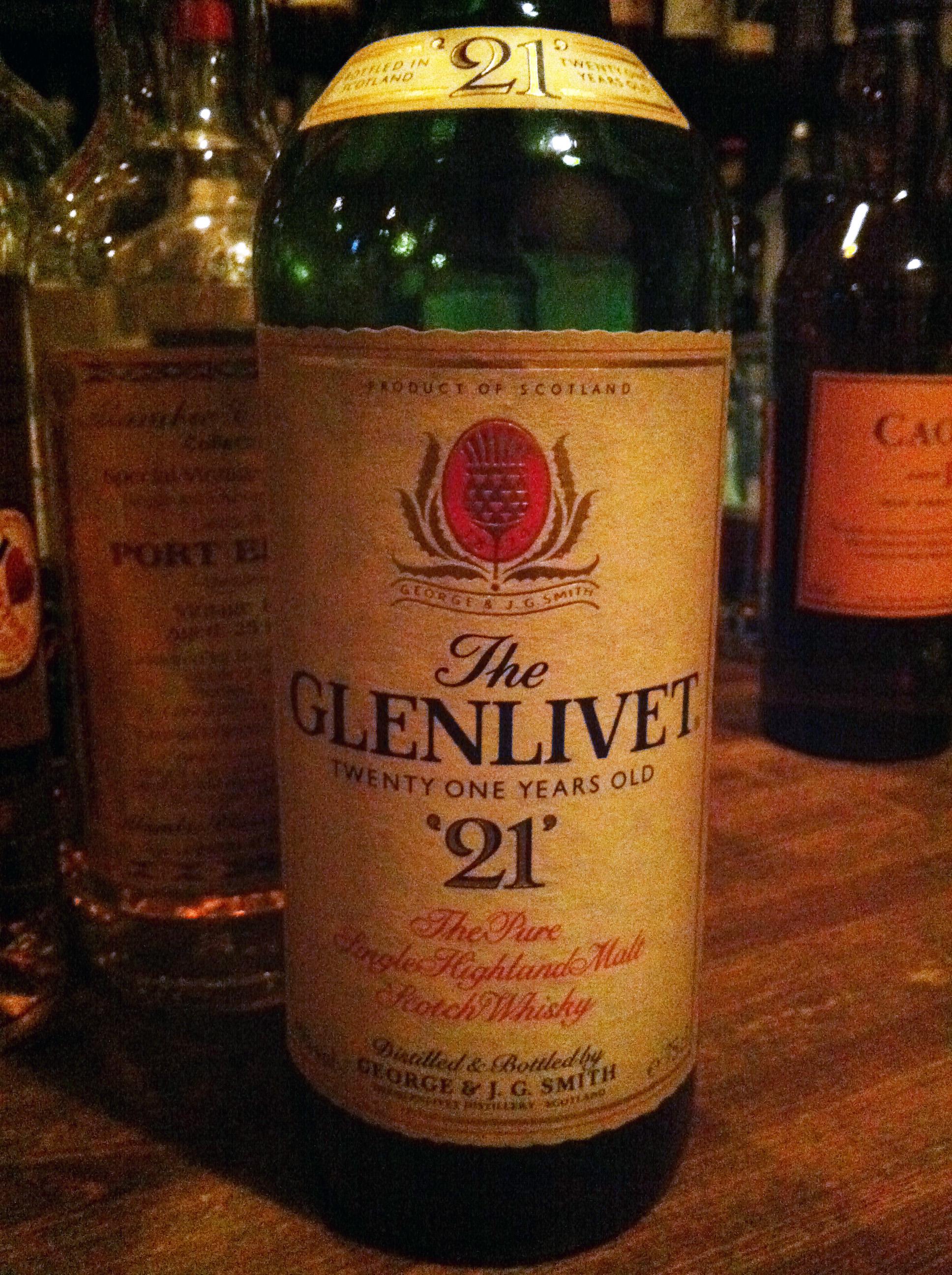 グレンリベット Glenlivet 21yo (43%, OB, 1980's)