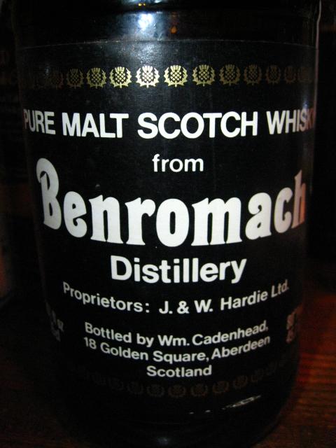 ベンローマック  Benromach 16yo (46%, Cadenhead's, Dumpy bottle)