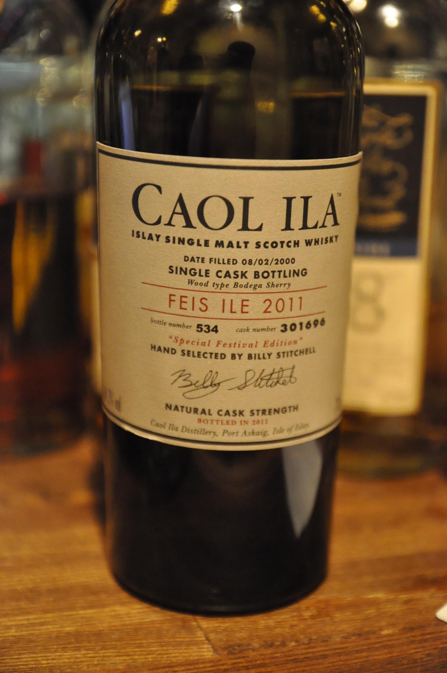 カリラ Caol Ila Feis Bottling  2000/2011 (64.3%, OB, Bodega Sherry Cask, C#301696, Btl No.534)