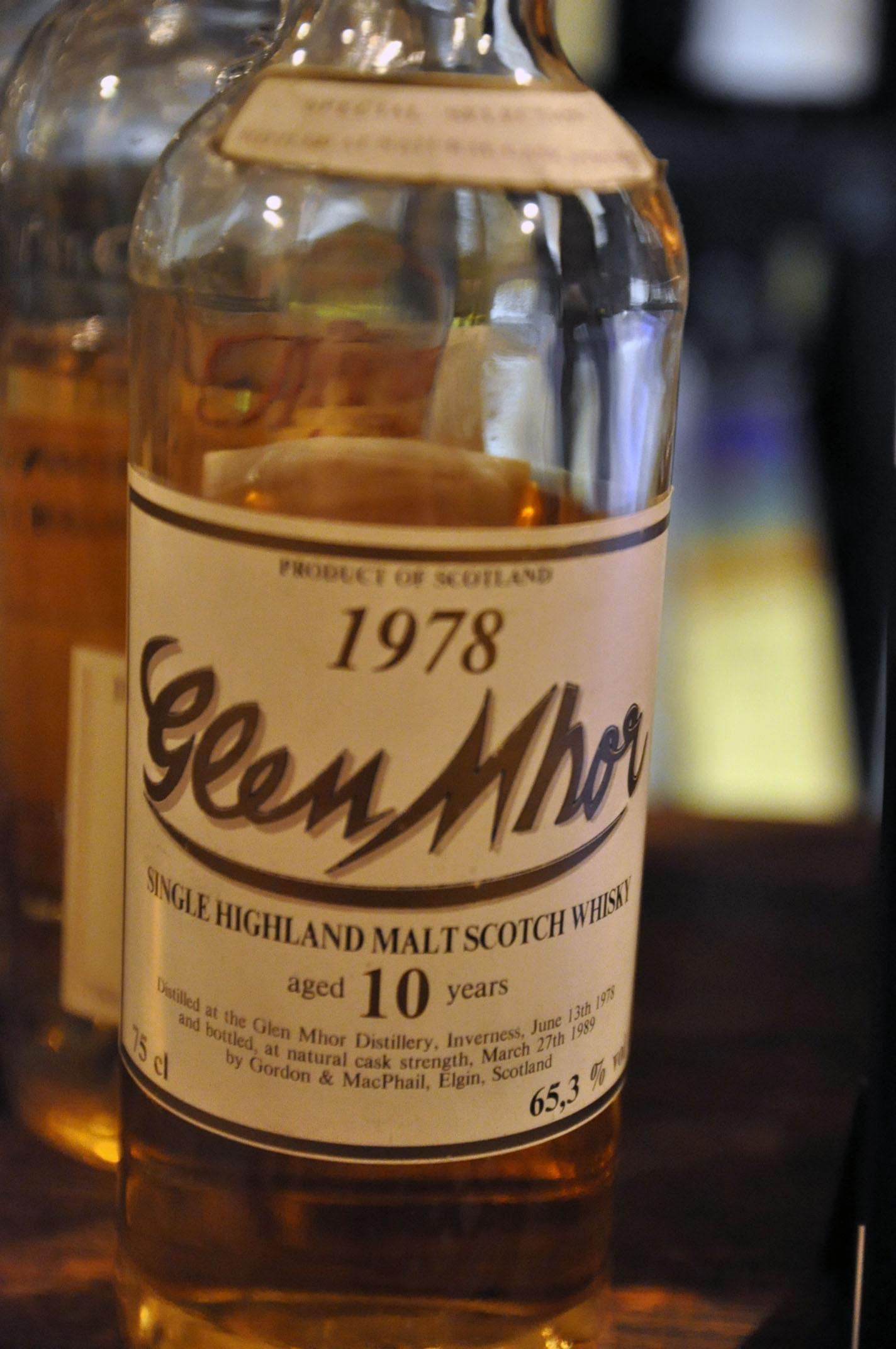 グレンモール Glen Mhor 10yo 1978/1989 (65.3%, G&M for Intertrade, 300bts, 75cl)