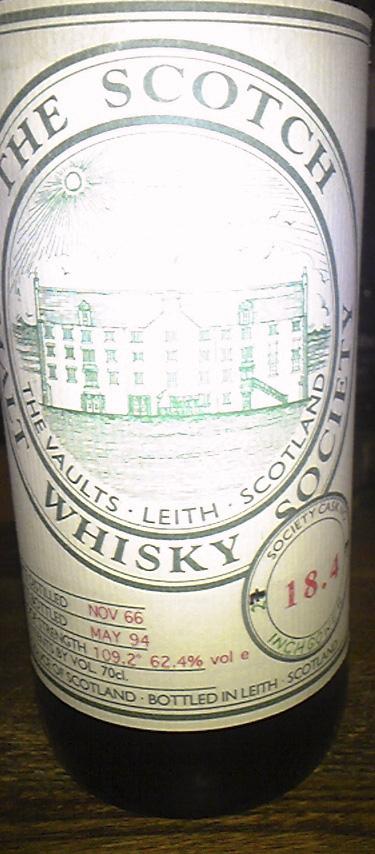 インチガワー Inchgower 1966/1994 (62.4%, SMWS, Vintage 11.1966, Bottled 05.1994, Cask no. 18.4, Bottle size 70 cl)