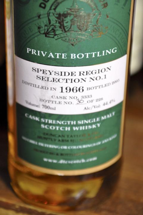 """グレンファークラス Glenfarclas 1966/2005 (44.4%, Duncan Taylor, C#3333, 30/228 Bts.) PRIVATE BOTTLING """"Speyside Region No.1"""""""