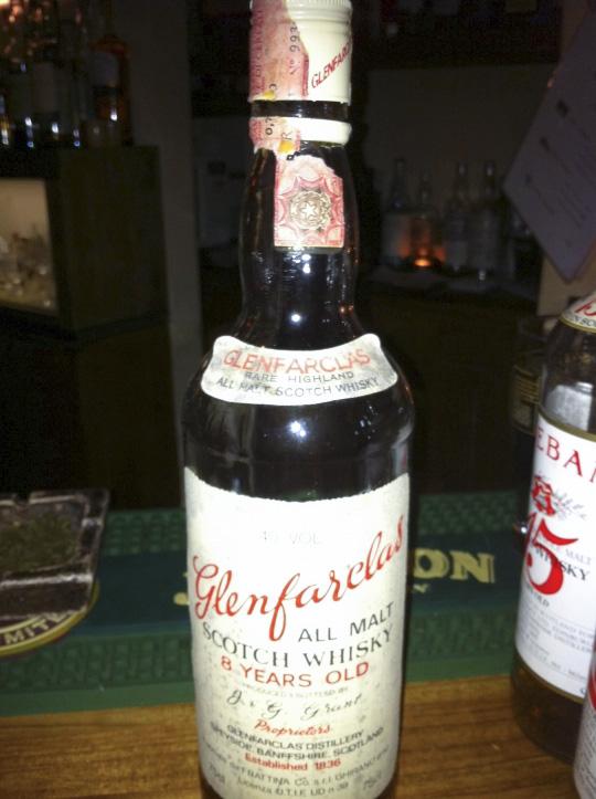 グレンファークラス Glenfarclas 8yo (40%, OB, 1970's) 75cl   for Italy