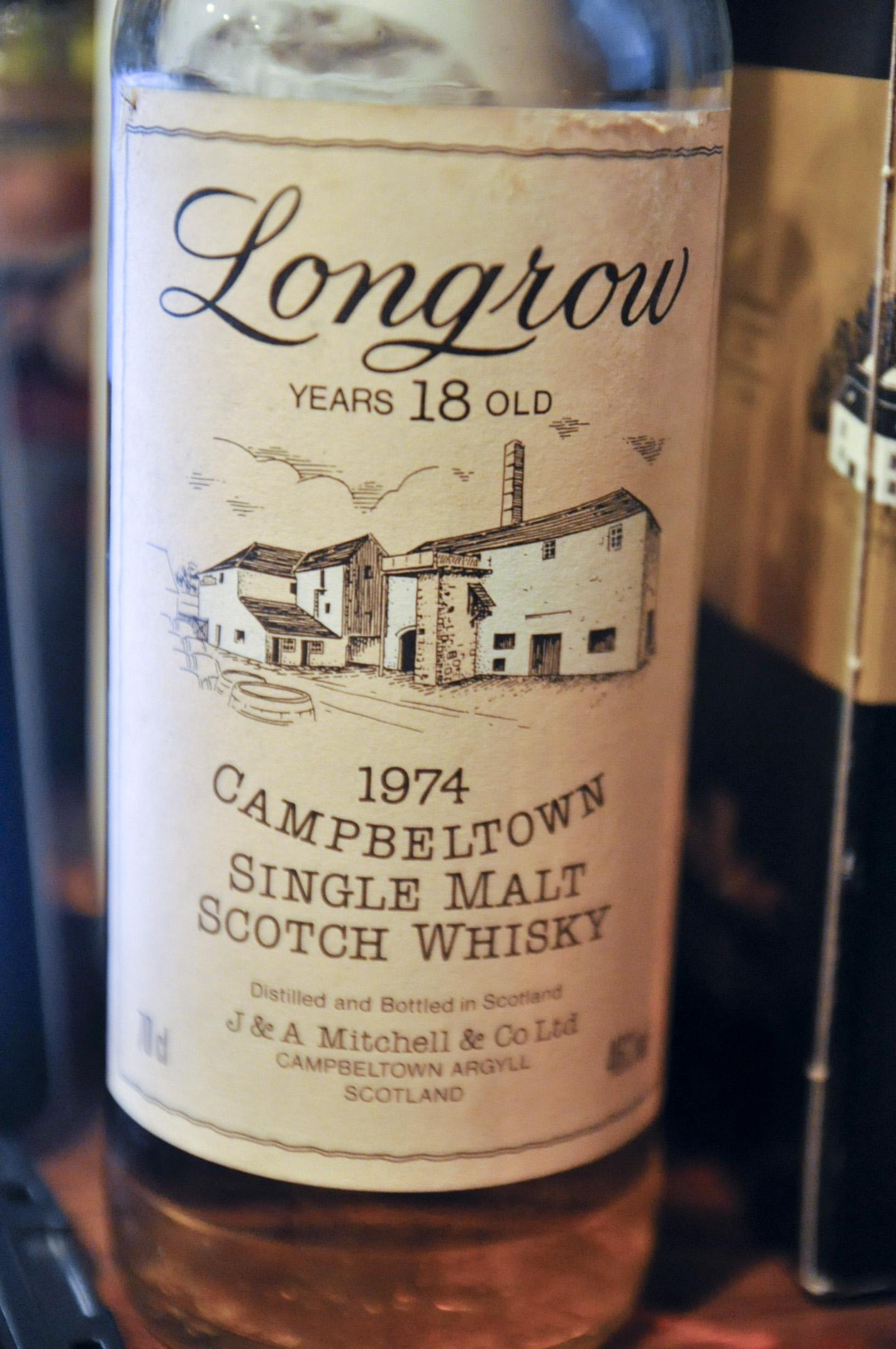 ロングロウ Longrow 18yo 1974 (46%, OB)