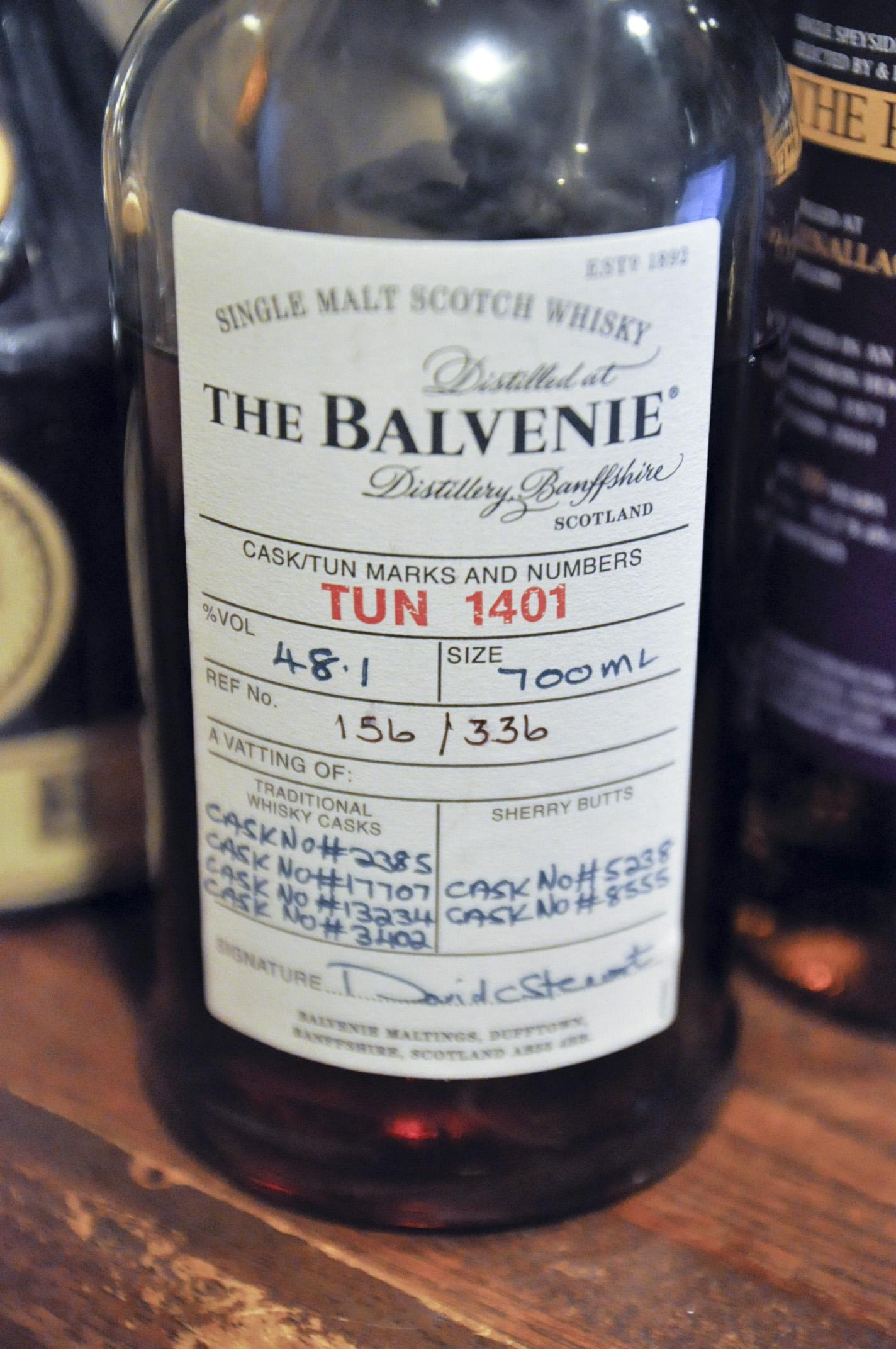 バルヴェニー Balvenie  'TUN1401' (48.1%, OB, batch1, Traditional Whisky Casks : C#2385, 17707, 13234, 3402, Sherry Butts : C#5238, 8555, 156/336btls)