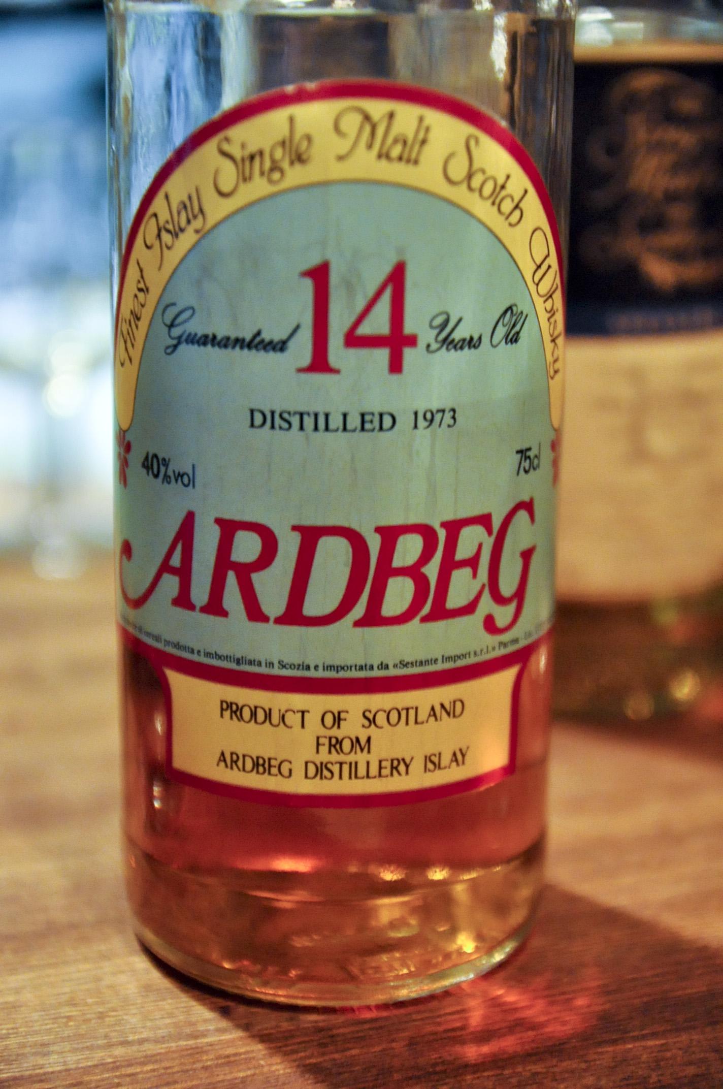 アードベッグ Ardbeg 14yo 1973 (40%, Sestante, green label, clear glass, 1980's, 75cl)