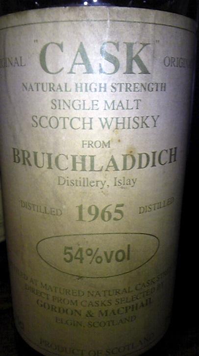 ブルイックラディ Bruichladdich 1965 (54%, G&M Cask Selection, Late 1980's)
