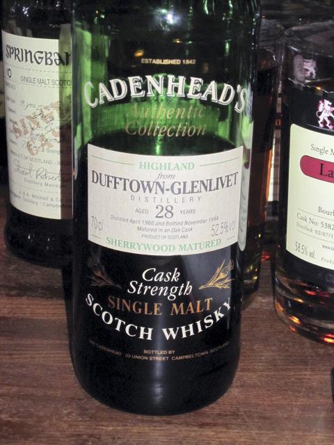 ダフタウン Dufftown-Glenlivet 28yo 1966/1994 (52.5%, Cadenhead's, Sherry Wood) 1994