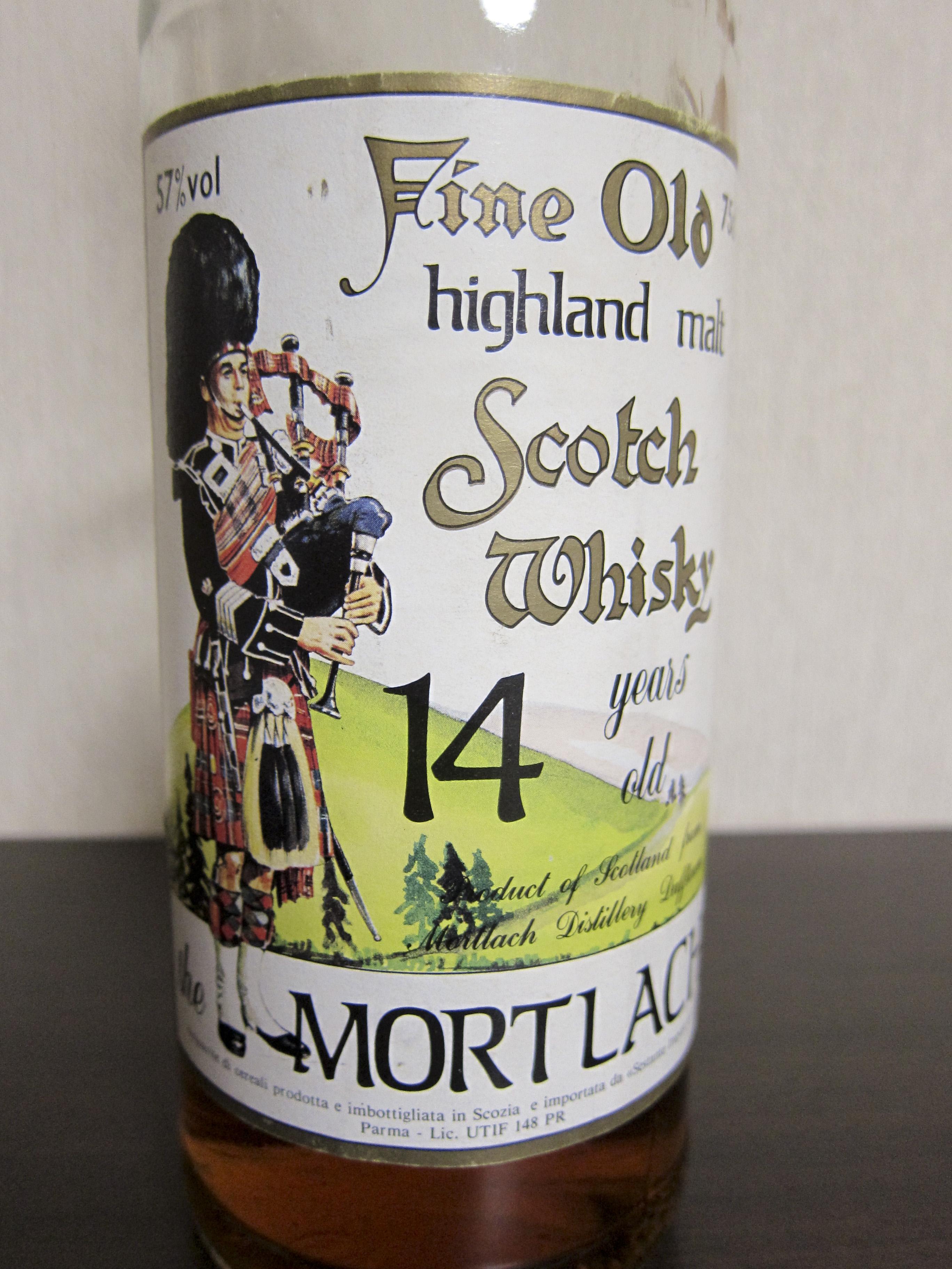 モートラック Mortlach 14yo (57%, Sestante, label with pipers, 75cl)  cork cap