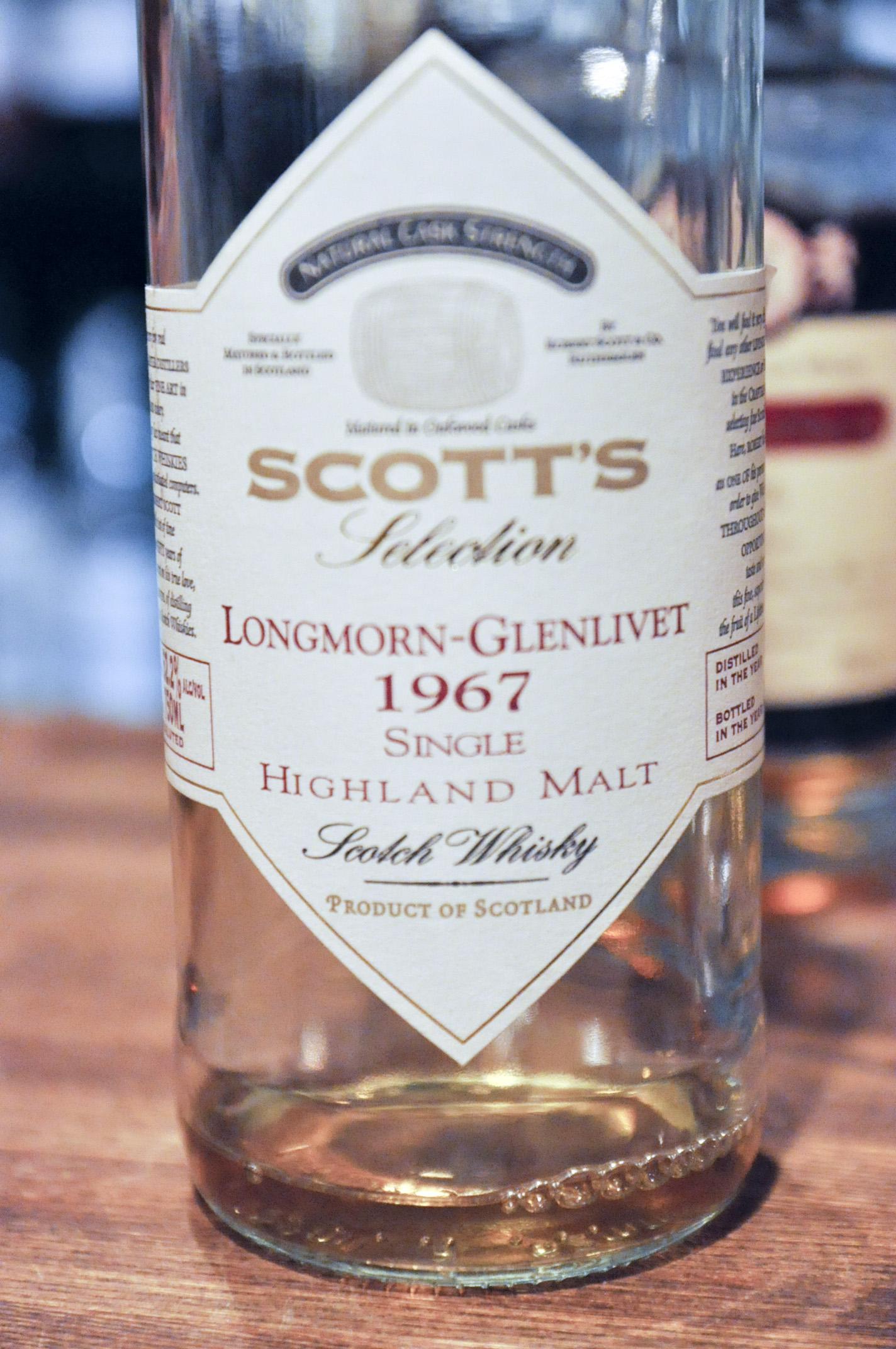 ロングモーン-グレンリベット Longmorn-Glenlivet 1967/2003 (61.3%, Scott's, natural cask strength) 北米向け