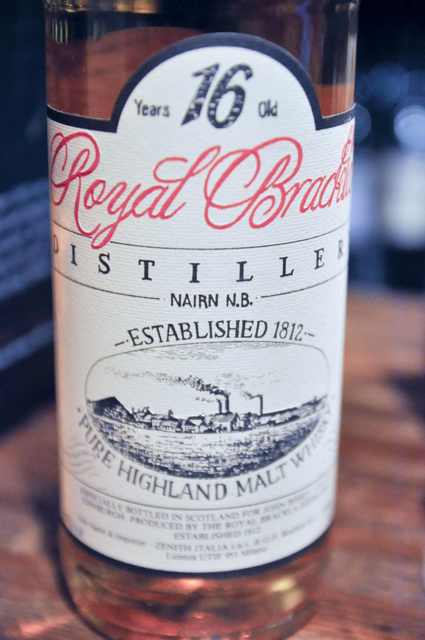 ロイヤルブラックラ Royal Brackla 16yo (57%, OB, Zenith Import Italy, 3600 Bts., 1980's) c1985
