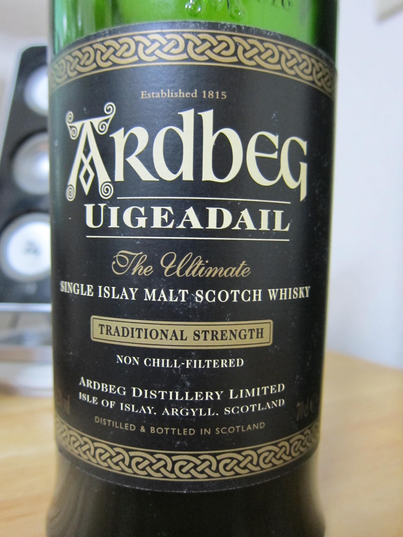 """OB ARDBEG UIGEADAIL """"TRADITIONAL STRENGTH"""" 54.2% 700ml Bottled:2003/1st"""