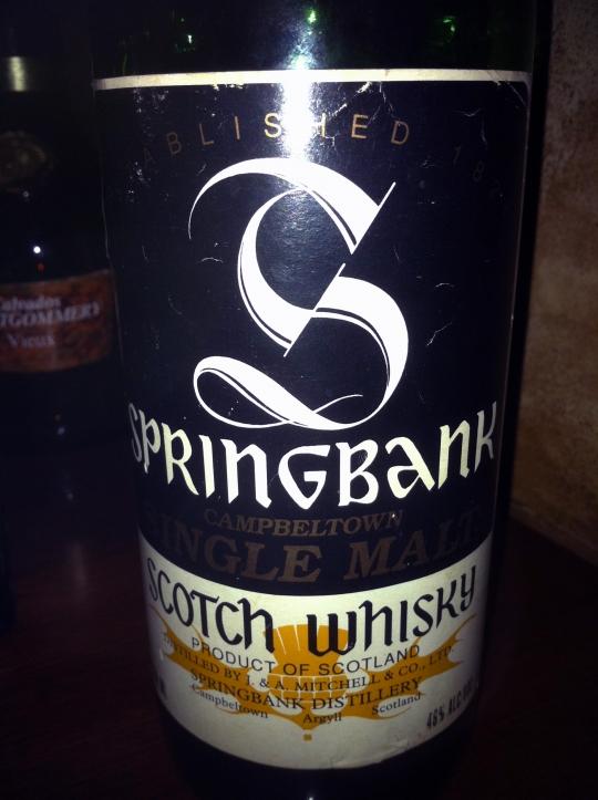 スプリングバンク Springbank 12yo (46%, OB, Black label, Green Bottle, 75cl, 1980's) Cambelltown Single Malt