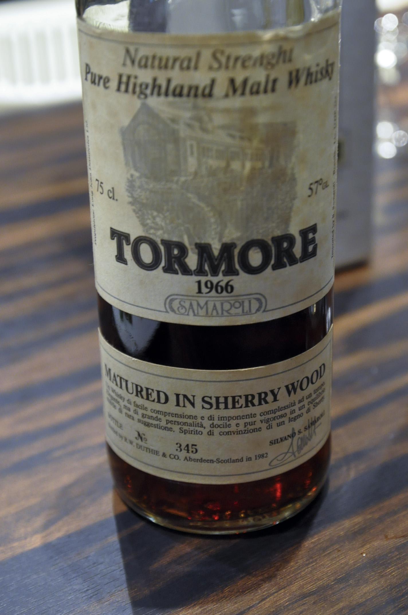 【BL/SC】トーモア Tormore 16yo 1966/1982 (57%, Samaroli, Sherry Wood, Btl no.345) Silver Screw Cap