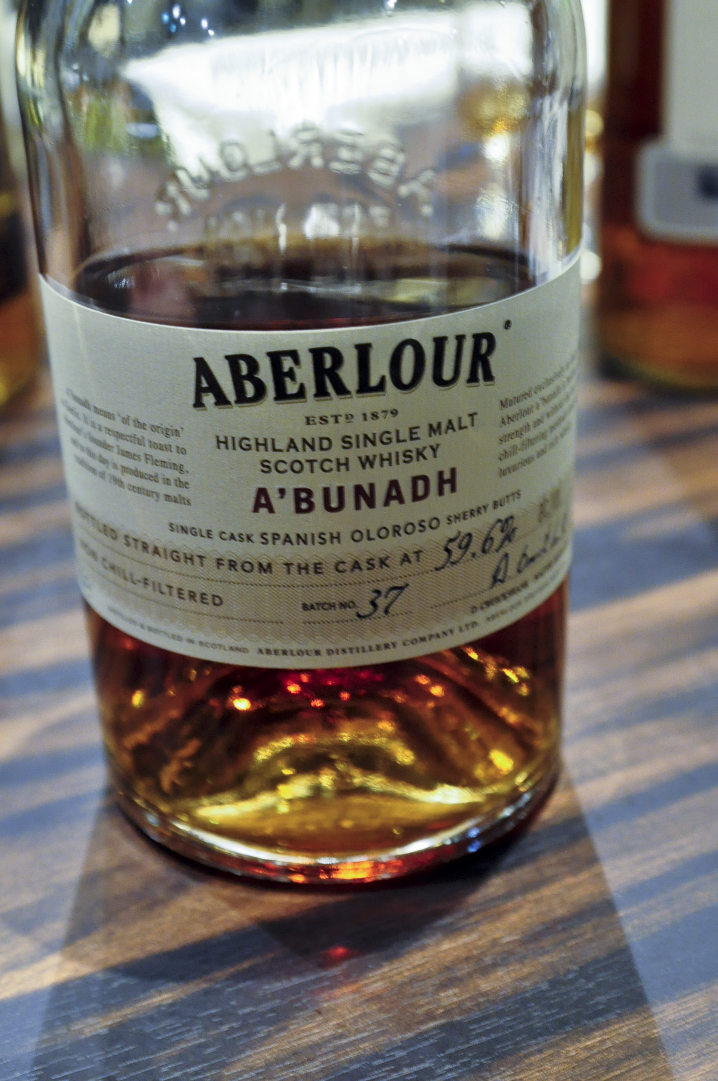 【BL/SC】 アベラワー Aberlour NAS 'A'bunadh' Batch #37 (59.6%, OB)