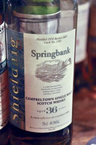 スプリングバンク Springbank 36yo 1970/2007 (49.5%, Sheldaig, C#1702)